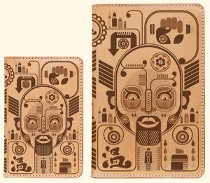 Conceptual Design Engraved onto Leather