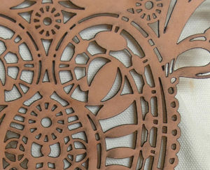 Pattern Laser Cut into Leather
