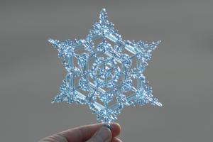 Laser Cute & Engraved Snow Flake