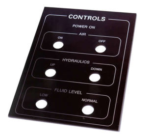 Engraved  Control Panel Labeling