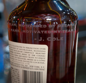 Quote Engraved onto Whiskey Bottle
