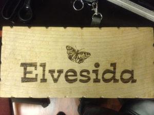 Engraved Wooden Name Block
