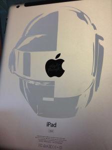 Daft Punk Engraving onto iPad
