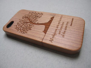 Engraved Wooden Cell Phone Cover